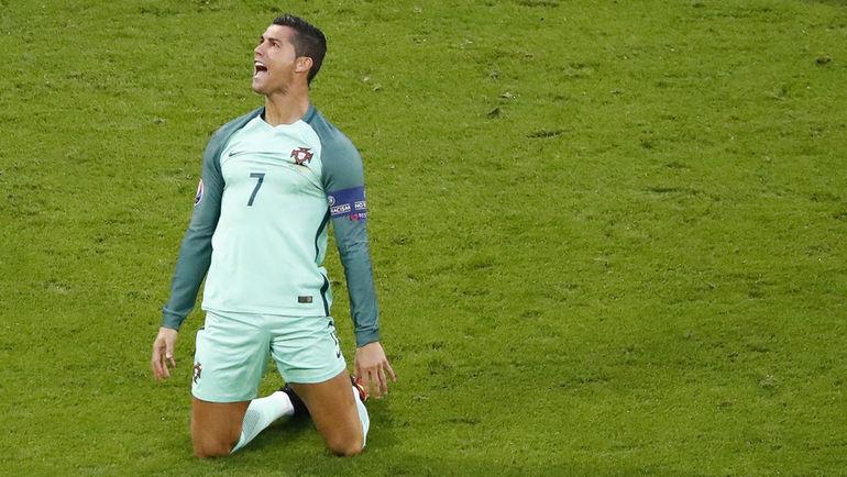Среда. Лион. Португалия - Уэльс - 2:0. Ликование Криштиану РОНАЛДУ. Фото Reuters
