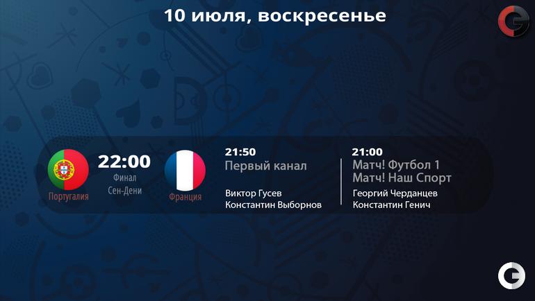 Где показывают, кто комментирует Euro-2016. 10 июля.