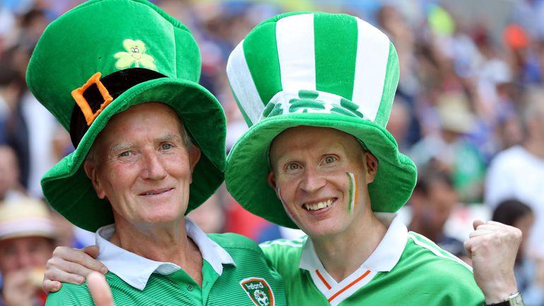 Ирландские болельщики показали себя во Франции только с лучшей стороны. Фото AFP