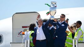 Как встречали сборную Португалии на родине