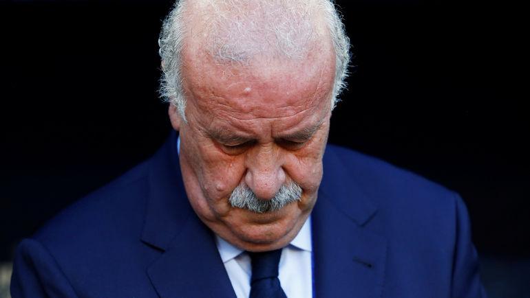 Главный тренер сборной Испании Висенте ДЕЛЬ БОСКЕ после поражения в 1/8 финала Euro-2016 подал в отставку со своего поста. Фото REUTERS