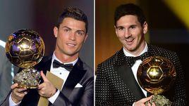 """Шансы КРИШТИАНУ РОНАЛДУ (слева) на """"Золотой мяч"""" теперь намного выше, чем у других игроков. В том числе - Лионеля МЕССИ."""