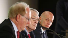 14 января. Мюнхен. Ричард МАКЛАРЕН, Ричард ПАУНД и Гюнтер ЯНГЕР (слева направо): к чему готовиться России?