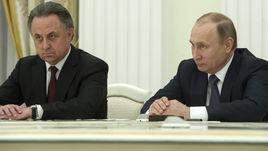 Президент России Владимир ПУТИН и министр спорта Виталий МУТКО (слева).