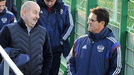 Бывший и, видимо, будущий главный тренер сборной России: Фабио КАПЕЛЛО (справа) и Станислав ЧЕРЧЕСОВ.
