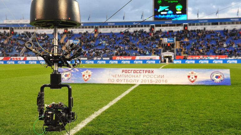 """Телекамера на стадионе """"Петровский"""". Фото Александр ФЕДОРОВ, «СЭ»"""