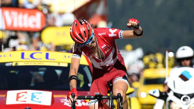 """Сегодня. Ильнур ЗАКАРИН на финише 17-го этапа """"Тур де Франс""""-2016."""