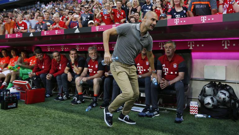 "Среда. Мюнхен. ""Бавария"" - ""Манчестер Сити"" - 1:0. Тренер ""Сити"" Хосеп ГВАРДЬОЛА."