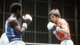 1980 год. Москва. Виктор РЫБАКОВ (справа) против француза Даниэля ЛОНДА.
