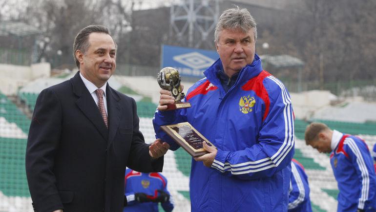 """Виталий МУТКО (слева) и Гус ХИДДИНК. Фото Александр ВИЛЬФ, """"СЭ"""""""