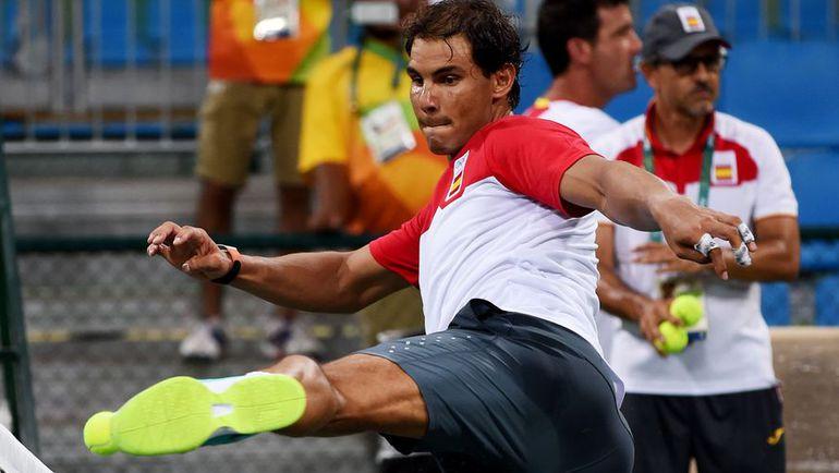 Сегодня. Рио-де-Жанейро. Рафаэль НАДАЛЬ на тренировке.