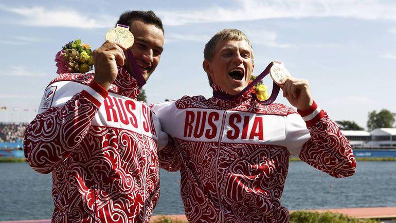Олимпийские чемпионы Лондона Александр ДЬЯЧЕНКО (слева) и Юрий ПОСТРИГАЙ. Фото Reuters