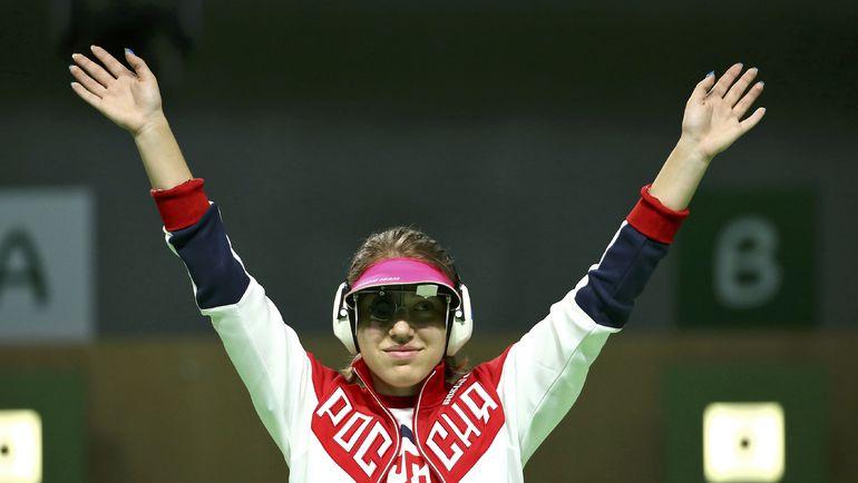Сегодня. Рио-де-Жанейро. Российский стрелок Виталина Бацарашкина - серебряный призер Олимпийских игр. Фото Reuters