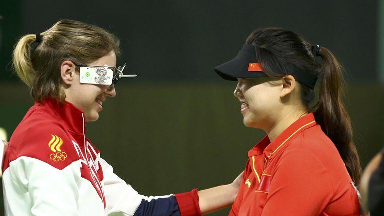 Виталина БАЦАРАШКИНА и ЧЖАН МЭНСЮЭ. Фото Reuters