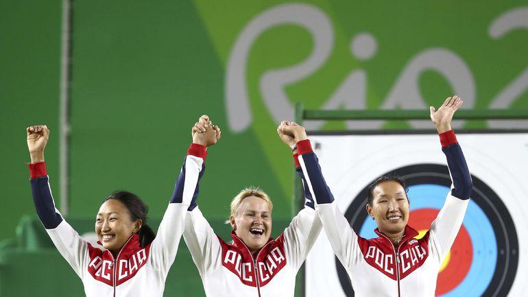 Сегодня. Рио-де-Жанейро. Туяна ДАШИДОРЖИЕВА, Ксения ПЕРОВА и Инна СТЕПАНОВА. Фото REUTERS