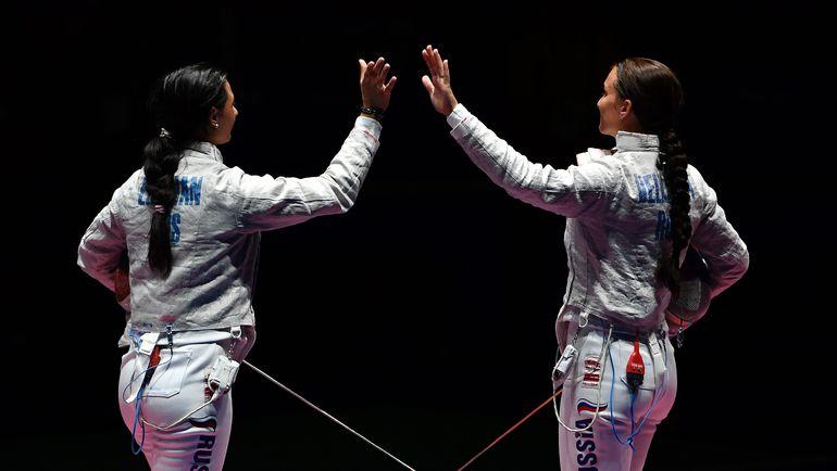 Сегодня. Рио-де-Жанейро. Яна ЕГОРЯН (слева) и Софья ВЕЛИКАЯ. Фото AFP