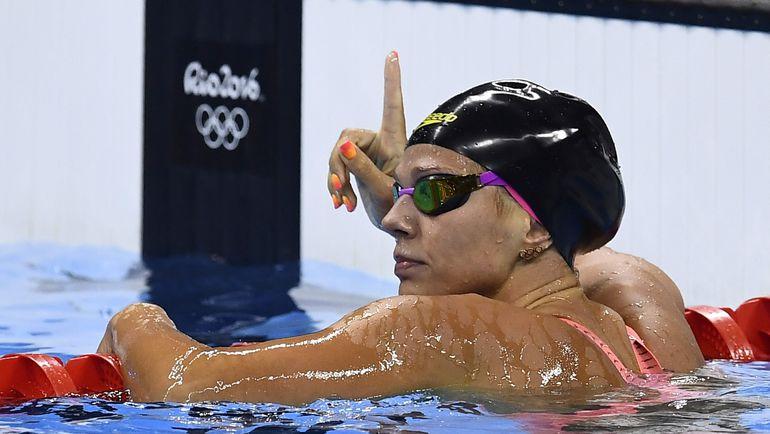 7 августа. Рио-де-Жанейро. Юлия ЕФИМОВА празднует выход в финал. Фото AFP
