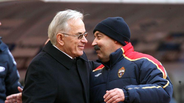 2008 год. Гаджи ГАДЖИЕВ и Валерий ГАЗЗАЕВ. Фото Татьяна ДОРОГУТИНА