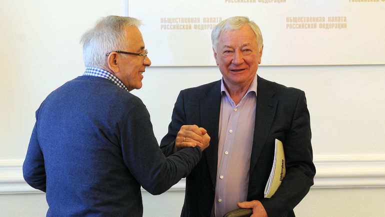 Гаджи ГАДЖИЕВ и Борис ИГНАТЬЕВ. Фото Алексей ИВАНОВ, «СЭ»