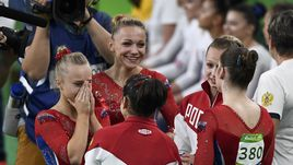 Вторник. Рио-де-Жанейро. Россиянки не сдержали слез после завершения соревнований.