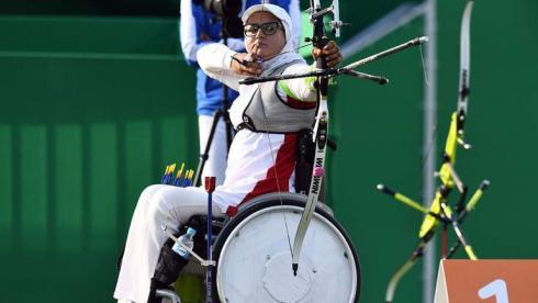История иранской лучницы на коляске