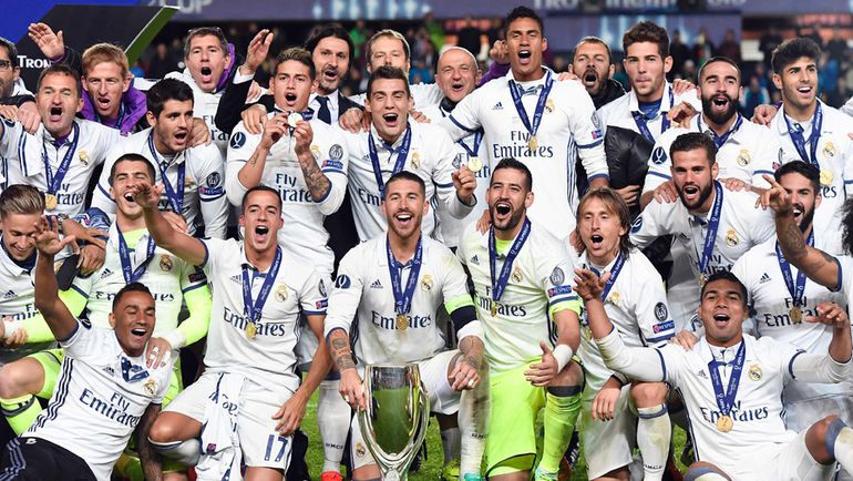 """Вторник. Тронхейм. """"Реал"""" – """"Севилья"""" – 3:2. """"Реал"""" - обладатель Суперкубка УЕФА."""