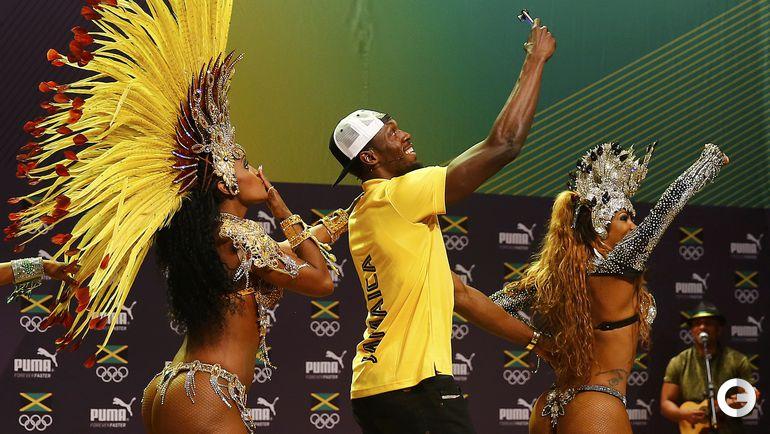 Сегодня. Рио-де-Жанейро. Усэйн БОЛТ на пресс-конференции.
