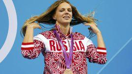 2012 год. Лондон. Юлия ЕФИМОВА с бронзой Игр.