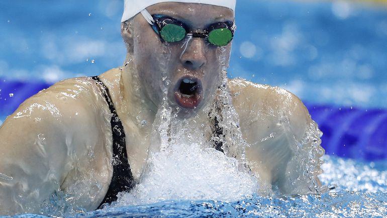 Лилли КИНГ, обошедшая Ефимову на дистанции 100 м брассом. Фото AFP