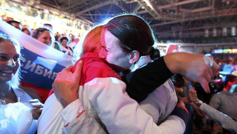Сегодня. Рио-де-Жанейро.Софья ВЕЛИКАЯ - наконец-то чемпионка! Фото REUTERS