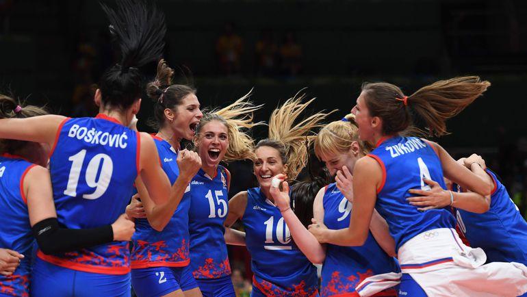 Сербки после победы не скрывали своей радости. Фото Reuters
