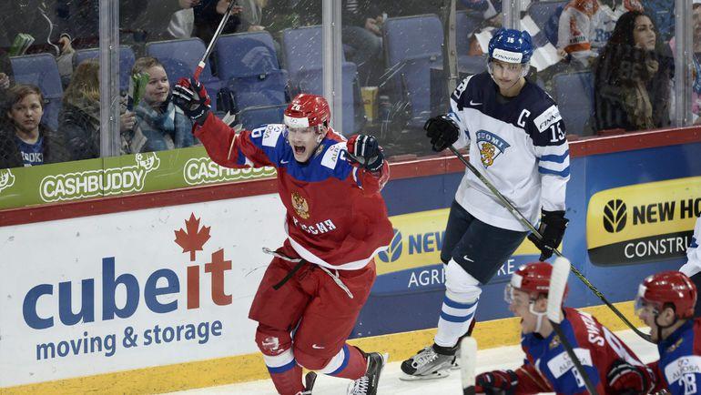 Егор КОРШКОВ в матче молодежной сборной России против Финляндии. Фото AFP