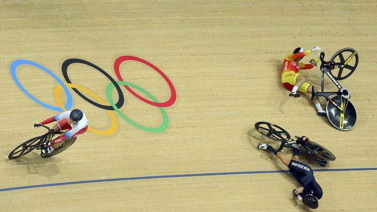 Дарья ШМЕЛЕВА избежала аварии на олимпийском треке. Фото Reuters
