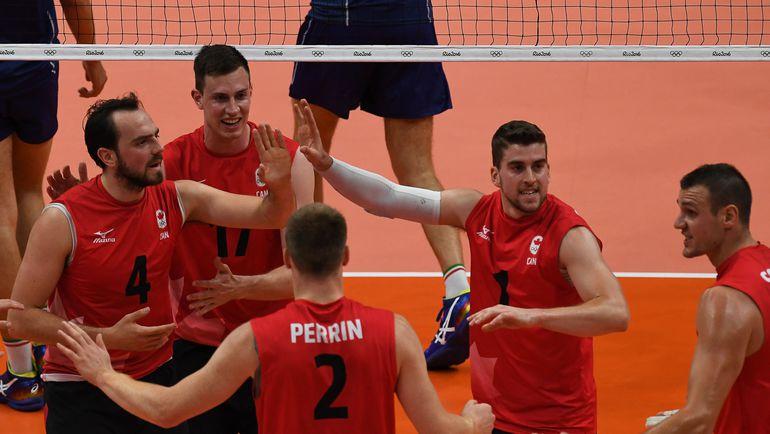 Сборная Канады - сенсационный четвертьфиналист мужского олимпийского турнира. Фото AFP