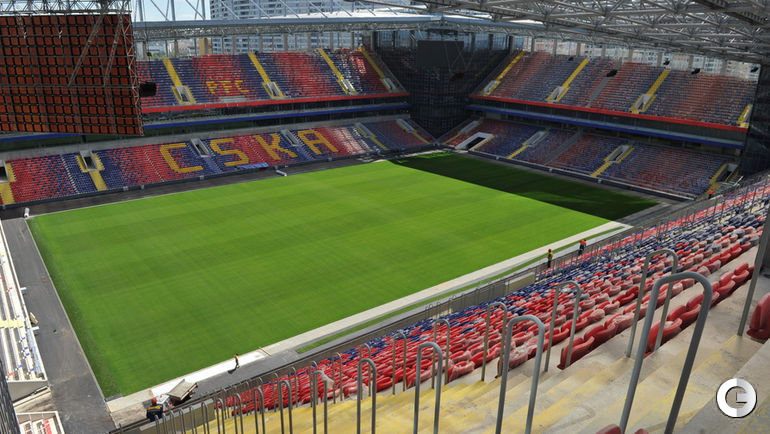 Июнь 2016 года. Строительство стадиона ЦСКА.