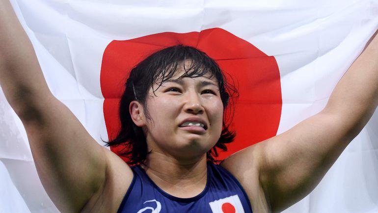 Сара ДОШО после победы в финале Олимпиады. Фото AFP