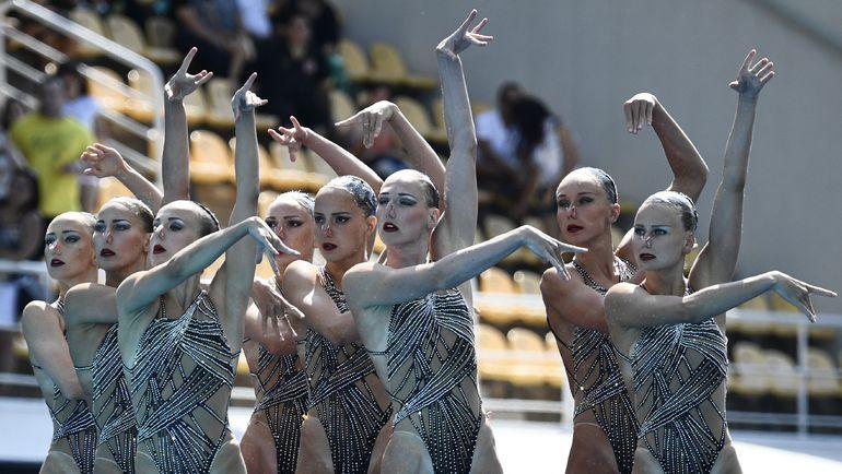 Сборная России по синхронному плаванию. Фото AFP