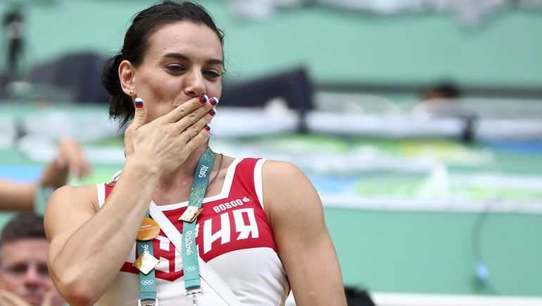 Елена ИСИНБАЕВА в олимпийском Рио-де-Жанейро. Фото REUTERS