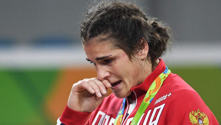 Слеза Натальи ВОРОБЬЕВОЙ после проигрыша в Рио. Фото AFP