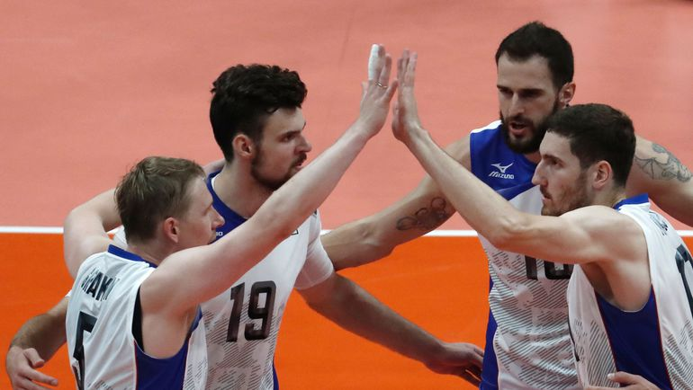 Сборная России по волейболу. Фото AFP