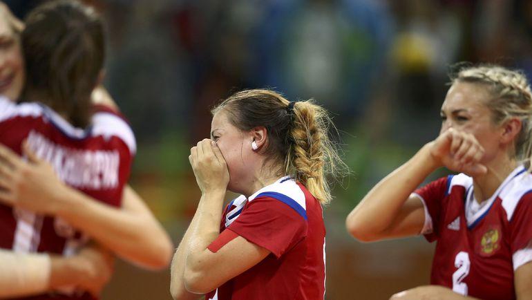 Эмоции россиянок после победы. Фото REUTERS