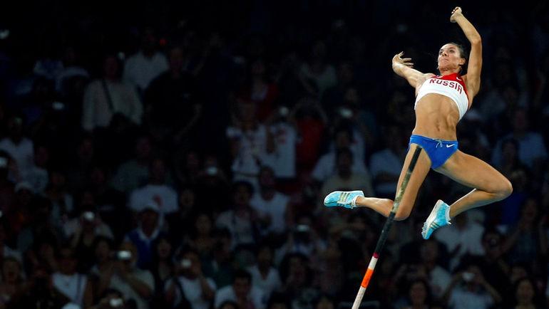 18 августа 2008 года. Пекин. Елена ИСИНБАЕВА: рекордный прыжок в небеса. Фото REUTERS