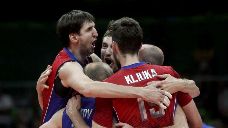 Сегодня. Рио-де-Жанейро. Бразилия - Россия - 3:0. Олимпийские чемпионы так и не смогли навязать борьбу вице-чемпионам. Фото REUTERS
