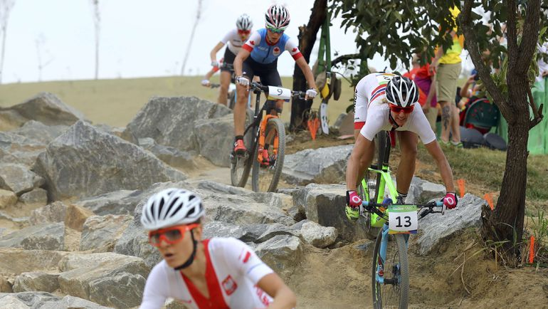 Участницы олимпийской гонки. Фото REUTERS