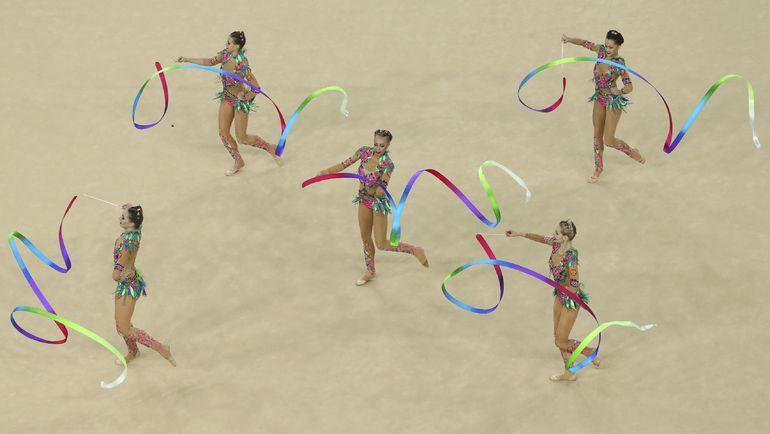 Сборная России в групповых упражнениях. Фото AFP