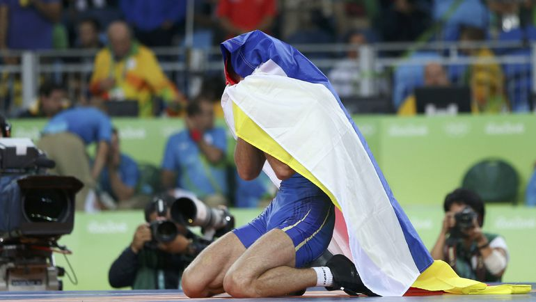 Сослан РАМОНОВ после финала. Фото AFP