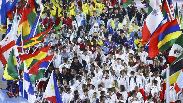Парад спортсменов на церемонии закрытия. Фото REUTERS