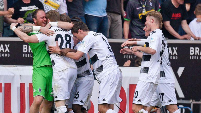 """Игроки """"Боруссии"""" празднуют победу. Фото AFP"""