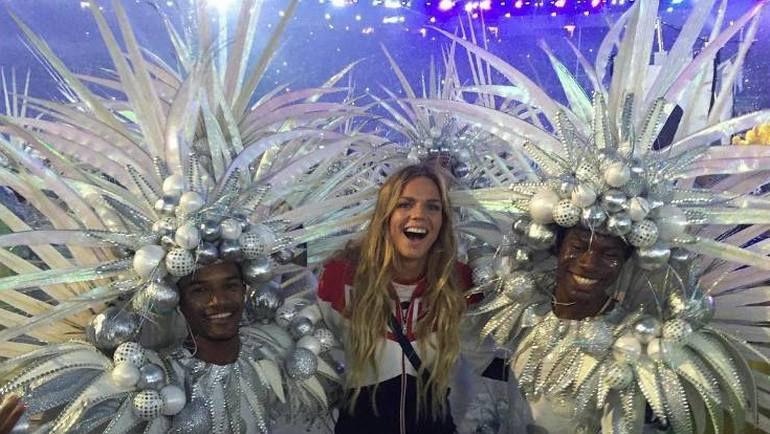 Юлия ЕФИМОВА на закрытии Олимпиады. Фото www.instagram.com/pryanya93/