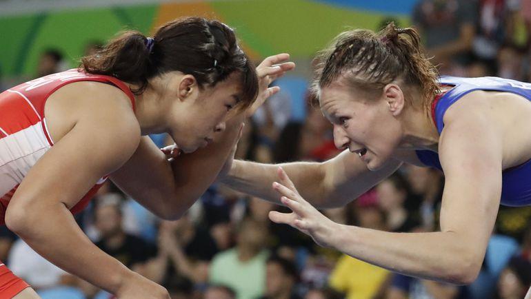 Инна ТРАЖУКОВА (справа) на Олимпиаде в Рио. Фото AFP